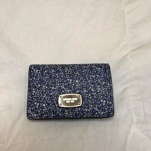 Michael Kors Blue Floral Wallet
